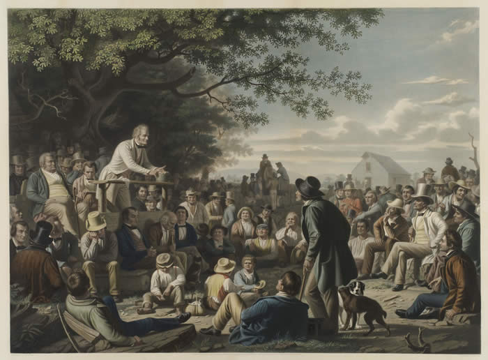 Stump speaking, 1856, © The Gilder Lehrman Institute of American History